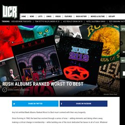Rush Albums Ranked Worst to Best