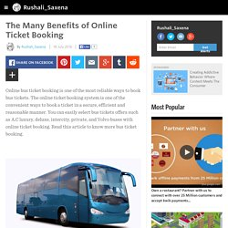 The Many Benefits of Online Ticket Booking