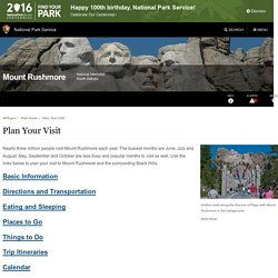 Plan Your Visit - Mount Rushmore National Memorial (U.S. National Park Service)