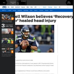 Russell Wilson believes 'Recovery Water' healed head injury