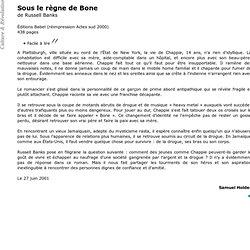 Russell Banks - Sous le règne de Bone - Culture & Révolution