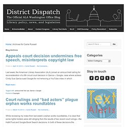 Carrie Russell: Director - Program on Public Access to InformationDistrict Dispatch