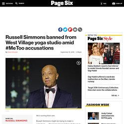 Russell Simmons banned from NYC yoga studio amid #MeToo accusations