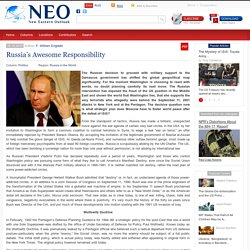 Russia's Awesome Responsibility