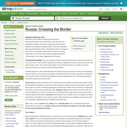 Russia: Crossing the Border - TripAdvisor