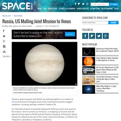 Russia, US Mulling Joint Mission to Venus