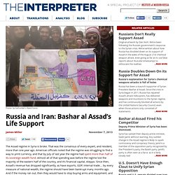 Russia and Iran: Bashar al Assad's Life Support