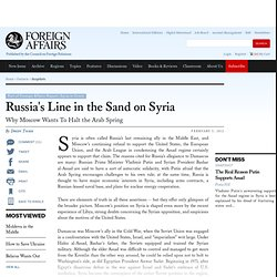 Russia's Line in the Sand on Syria
