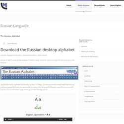 Russian Alphabet - Cyrillic - with sound