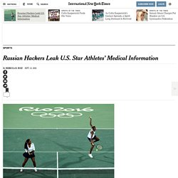 Russian Hackers Leak U.S. Star Athletes' Medical Information