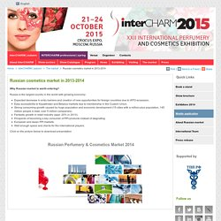 Russian cosmetics market in 2013-2014 - Intercharm