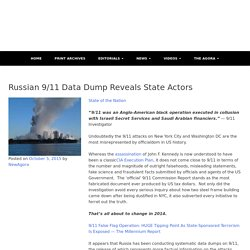 Russian 9/11 Data Dump Reveals State Actors - The New Agora Newspaper - Elect To Govern Yourself