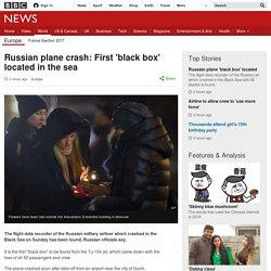 Russian plane crash: First black box located in sea