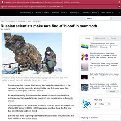 Scientists Discover Blood inside 15,000 ya Mammoth