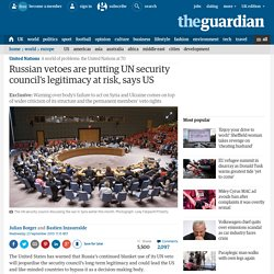 Russian vetoes are putting UN security council's legitimacy at risk, says US