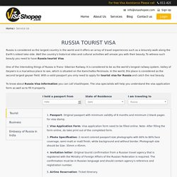 Tourist Visa for Russia
