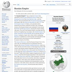 Russian Empire Article about Russian Empire by The Free