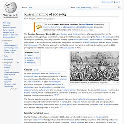 Russian famine of 1601–03