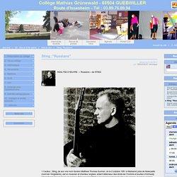 """Sting :""""Russians"""" - Collège Mathias Grunewald de Guebwiller"""