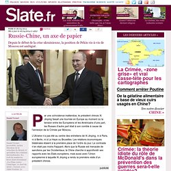 Russie-Chine, un axe de papier