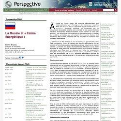 La Russie et « l'arme énergétique »