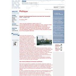 Russie: l'environnement encore à la merci de l'économie