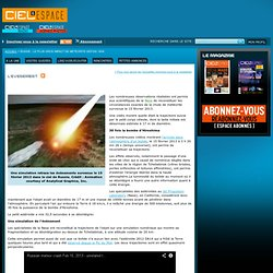 Russie : le plus gros impact de météorite depuis 1908