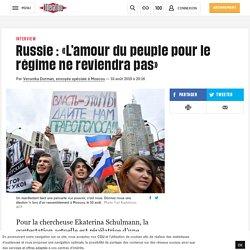 Russie: «L'amour du peuple pour le régime nereviendra pas»