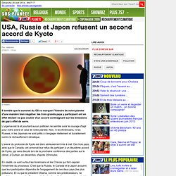 USA, Russie et Japon refusent un second accord de Kyoto - Copenhague 2009