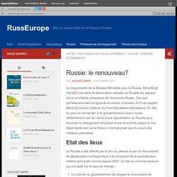 Russie: le renouveau?