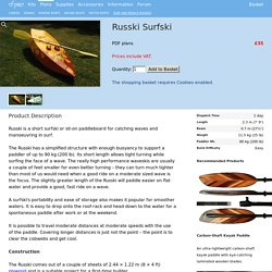 Russki Surfski - Fyne Boat Kits