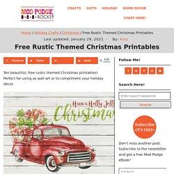 Free Rustic Themed Christmas Printables