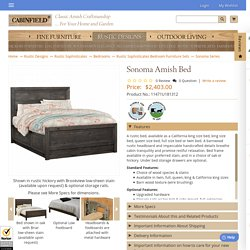 Rustic Bed, Handmade California King Bed, King Bed, Queen Bed, Full Bed-Sonoma