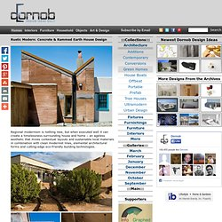 Rustic Modern: Concrete & Rammed Earth House Design