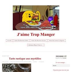 Tarte rustique aux myrtilles