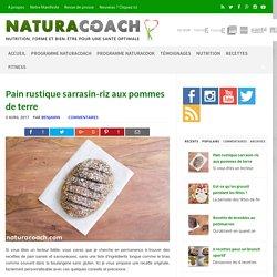 Pain rustique sarrasin-riz aux pommes de terre