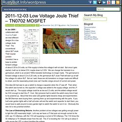 wordpress - 2011-12-03 Low Voltage Joule Thief – TN0702 MOSFET