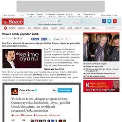 Rüşveti sordu yayından kalktı- Sözcü Gazetesi