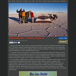 Ruta Intersalar 1, Bolivia. Etapa 56