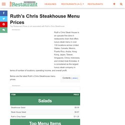 Ruth's Chris Steakhouse Prices