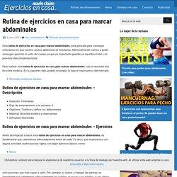 Rutina de ejercicios en casa para marcar abdominales - Ejercicios En Casa