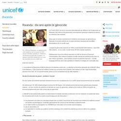 Rwanda : dix ans après le génocide