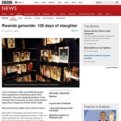Rwanda genocide: 100 days of slaughter