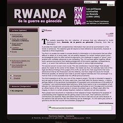 RWANDA: Accueil