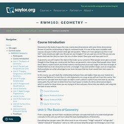 RWM103: Geometry