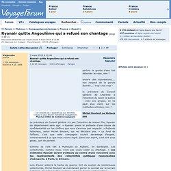 Thèmes> Compagnies aériennes> Ryanair quitte Angoulême qui a refusé son chantage