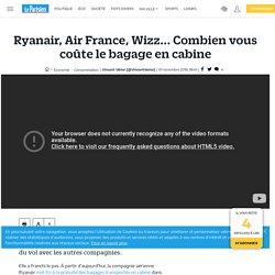 Ryanair, Air France, Wizz... Combien vous coûte le bagage en cabine