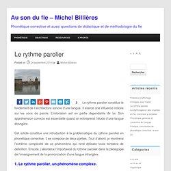 Le rythme parolier - Au son du fle - Michel Billières