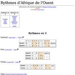 Rythmes d'Afrique de l'Ouest