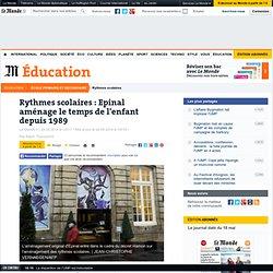 Rythmes scolaires : Epinal aménage le temps de l'enfant depuis 1989